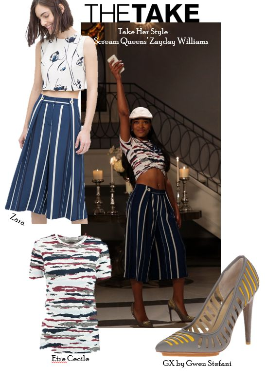 Steal Zayday's flawless style from Scream Queens Season 1 Episode 6, at TheTake.com