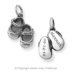 Lil' Girl Baby Shoes Charm from James Avery