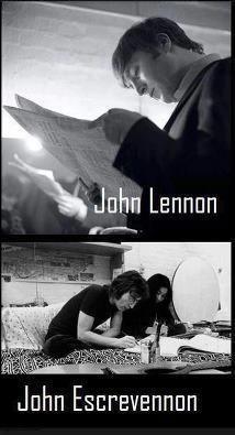 John Lennon ou John Escrevennon?  Veja mais em: http://www.jacaesta.com/john-lennon-ou-john-escrevennon/
