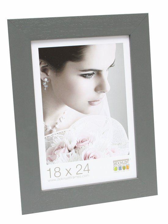 Deknudt Frames Basic, breed grijs, hout fotomaat 40x50 cm