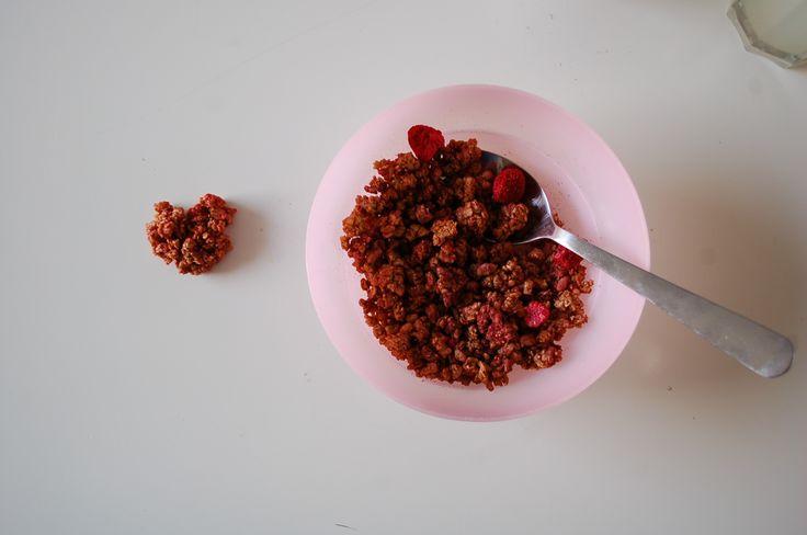 gevonden in mijn ontbijt <3 found in my breakfast (Krunchy Amaranth Himbeer)