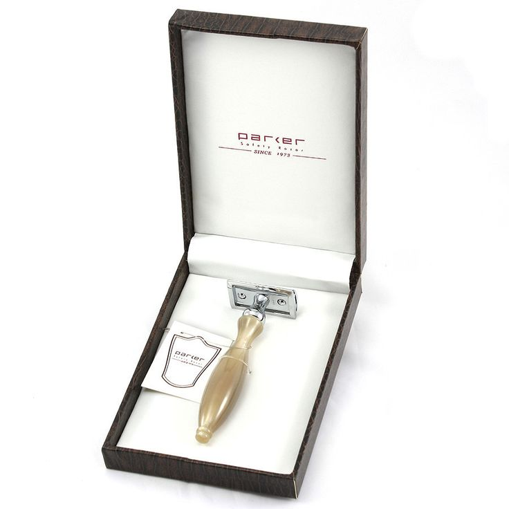 Parker 13R Double-Edge Razor with Genuine Horn Handle
