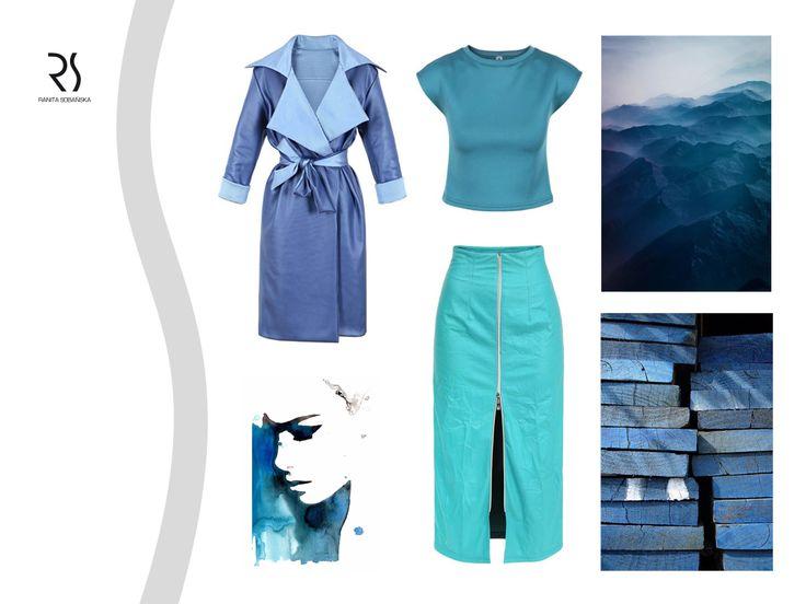 Celebruj wiosnę kolorem! Lazurowe turkusy, rozbielone błękity, zgaszone szafiry i soczyste grafity. W sezonie SS15 postaw na niebieskie ubrania RS! #ranitasobanska #fashiondesigner