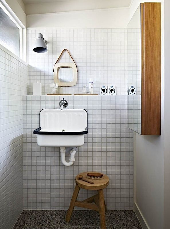 Lately we've been noticing the humble Alape bucket sink in washrooms everywhere (we first spotted it at Labour and Wait in London). Here's a roundup of spa