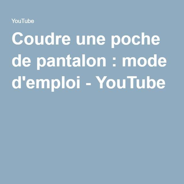Coudre une poche de pantalon : mode d'emploi - YouTube