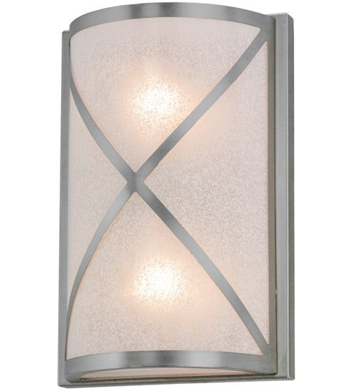 "8""W Whitewing Contemporary Wall Sconce"