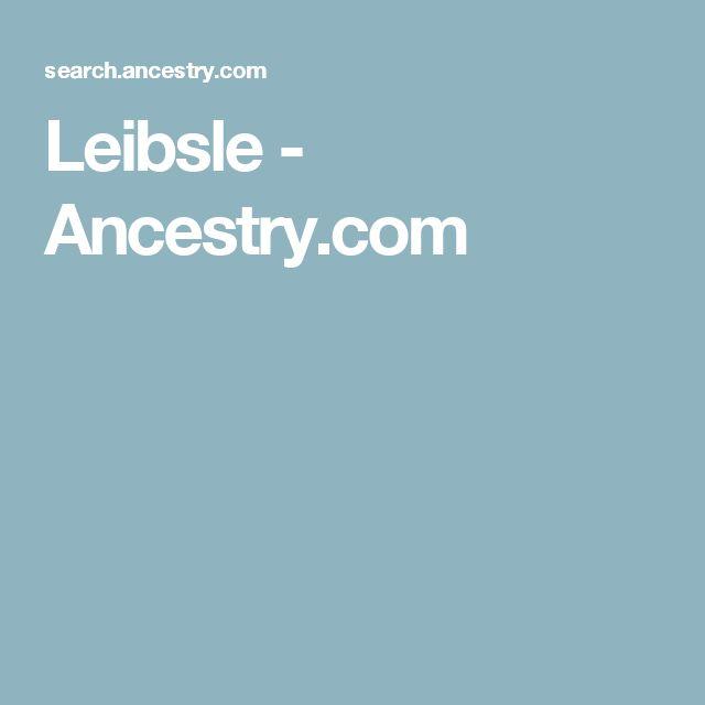 Leibsle - Ancestry.com
