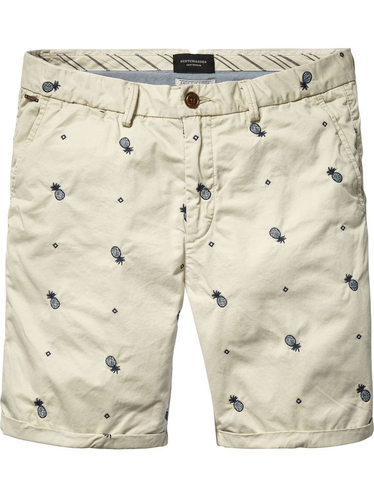 Embroidered Chino Shorts |Short pants|Men Clothing at Scotch & Soda
