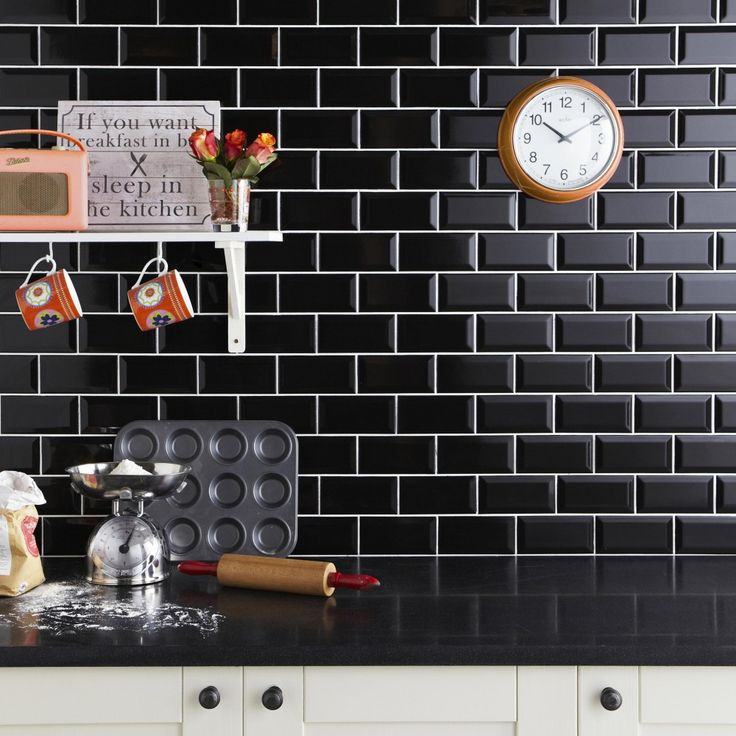 Black Kitchen Tile 25+ best black wall tiles ideas on pinterest | kitchen wall tiles