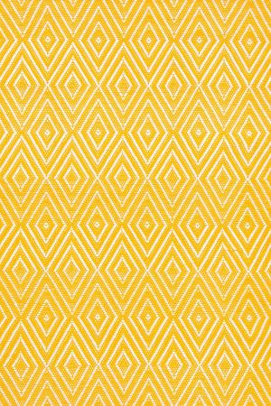 RugStudio presents Dash And Albert Diamond Canary/White Woven Area Rug $148 + 20% off