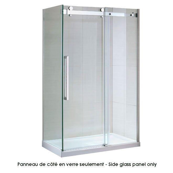 """Sierra"" side glass shower panel"