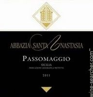 Abbazia Santa Anastasia Rosso di Passomaggio IGT, Sicily, Italy label
