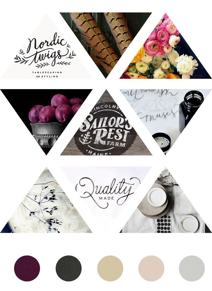Shabby glam moodboard- love the hand lettering and rustic chic look of this branding!