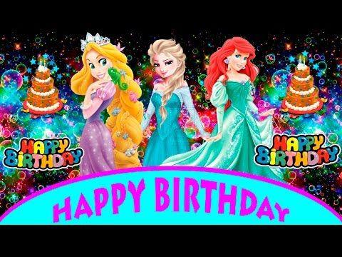 Disney Princess Happy Birthday Song | Frozen Elsa Birthday Dance | Children Songs - YouTube