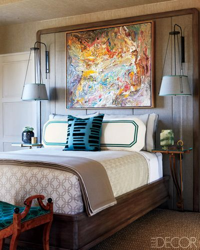 Love that abstract over the bed!