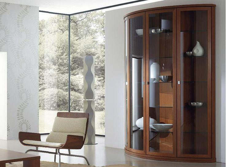 Italian Rounded Glass Vitrine Trend 226 by Artigian Mobili - $3,265.00