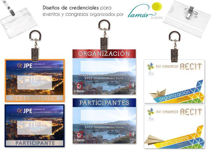 Diseño de credenciales para eventos y congresos