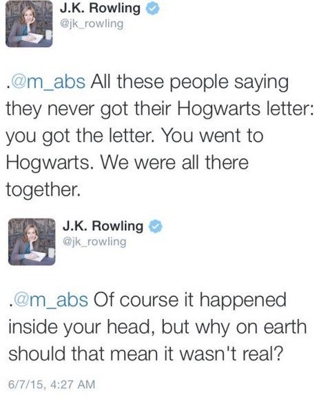 J.K. Rowling tweet - June 7th