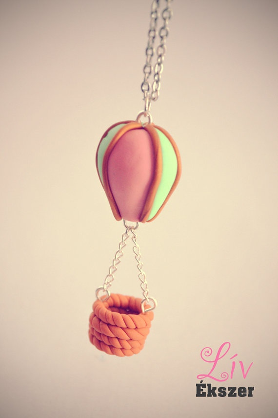 Hot air balloon necklace by livekszer on Etsy, Ft3500.00