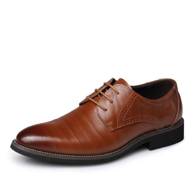 Mens Business Shoes Leather Luxury Dress Shoes Men Four Seasons Male Fashion Flats Pointed Toe Work Shoes