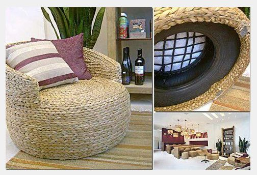 Recycled Tire Rope Seat Recycled Tires Pinterest