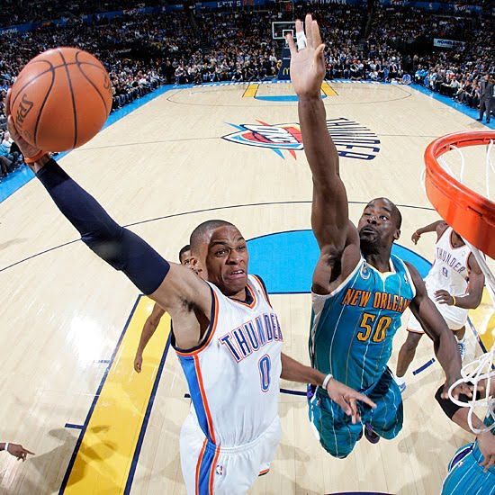 Russell Westbrook Dunk | 2010-2011 NBA Regular Season: Russell Westbrook Dunks On Emeka Okafor