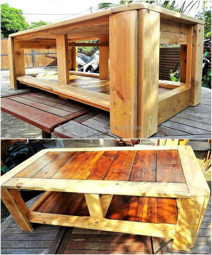 Wood Pallet Made Table Wood Pallets Wood Pallet Furniture Wood Pallet Projects