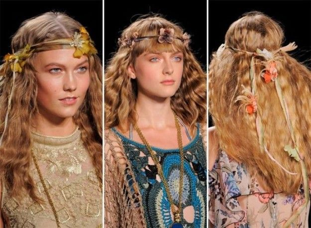 Capelli acconciature hippie