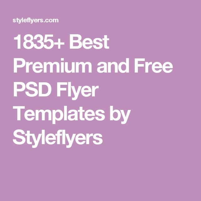 1835+ Best Premium and Free PSD Flyer Templates by Styleflyers