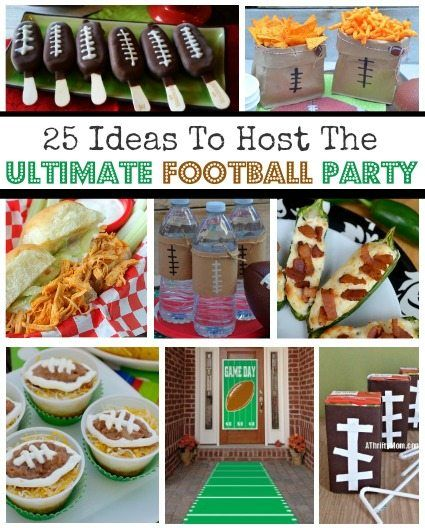 25 Easy Ideas To Host The Ultimate Football Party ~ #Superbowl #NFL #Football #FingerFood #Snacks