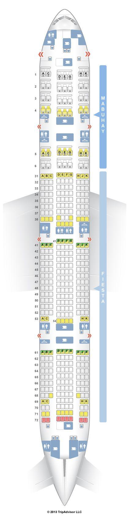 Seatguru Seat Map Philippine Airlines Boeing 777 300er 777