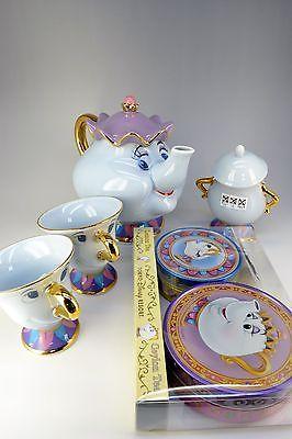 Disney Resort Limitado A Bela E A Fera, a Sra. Potts Pote E Chip Conjunto De Xícara De Chá in Colecionáveis, Colecionáveis Disney, Contemporâneos (1968 até o presente)   eBay