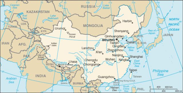 Essential Geography Facts About the 14 Countries Bordering China: A wonderful map of China.