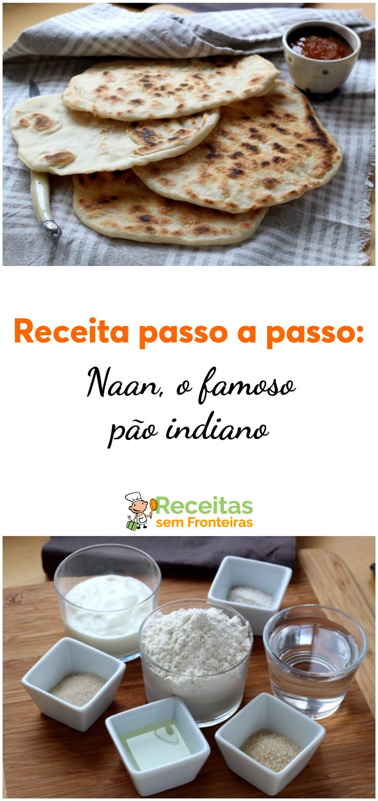 NAANS: ¡el famoso pan indio hecho en la sartén!   – Pão  Caseiro,roscas,cupcake,muffins, cookies etc