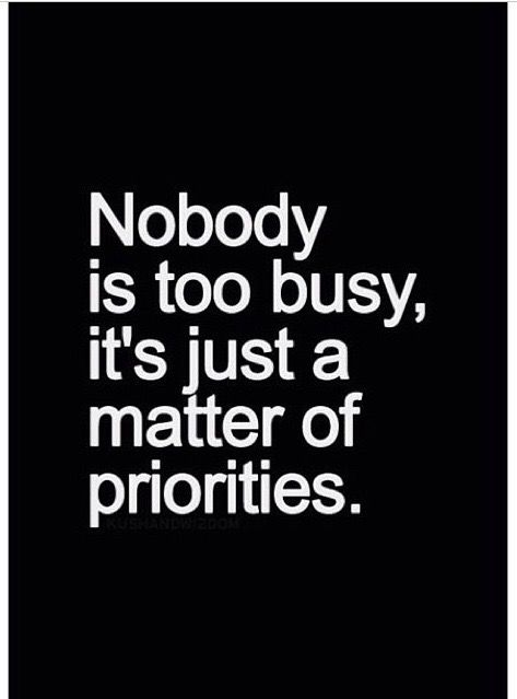 FACT!!!!!! Priorities