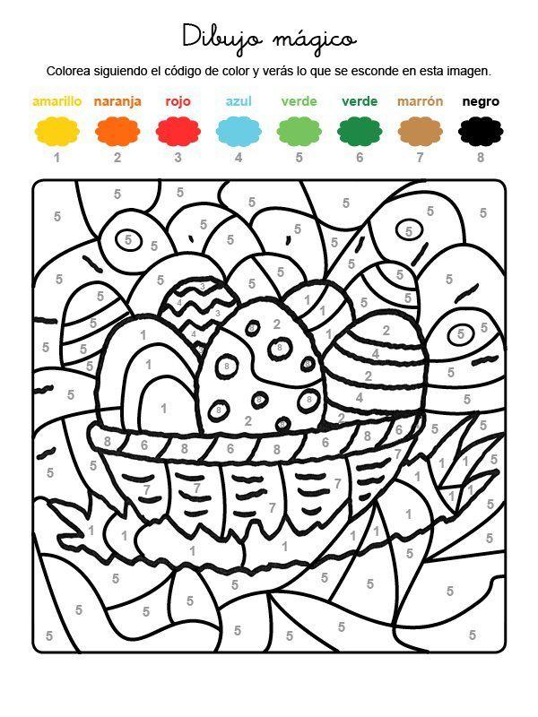 Dibujo Mágico De Huevos Adornados Dibujo Para Colorear E