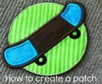 How to make a machine embroidered patch: PDF file with directions and  pictures