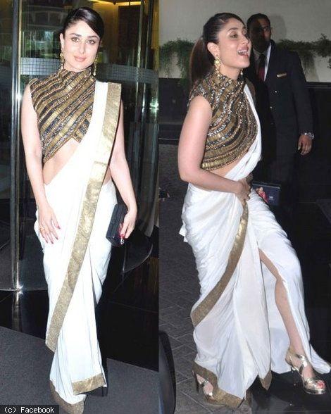 Kareena Kapoor in http://www.ManishMalhotra.in/ #Saree & Blouse
