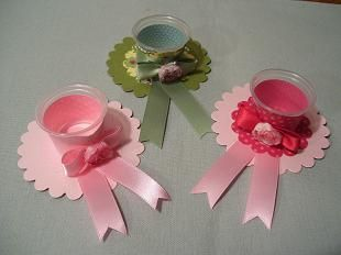 """Some little favors I made for a women's church luncheon entitled """"Hats off to Mission""""."""