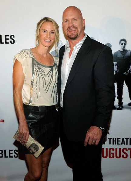 """WWE Hall of Fame Superstar """"Stone Cold"""" Steve Austin and his wife Kristin"""