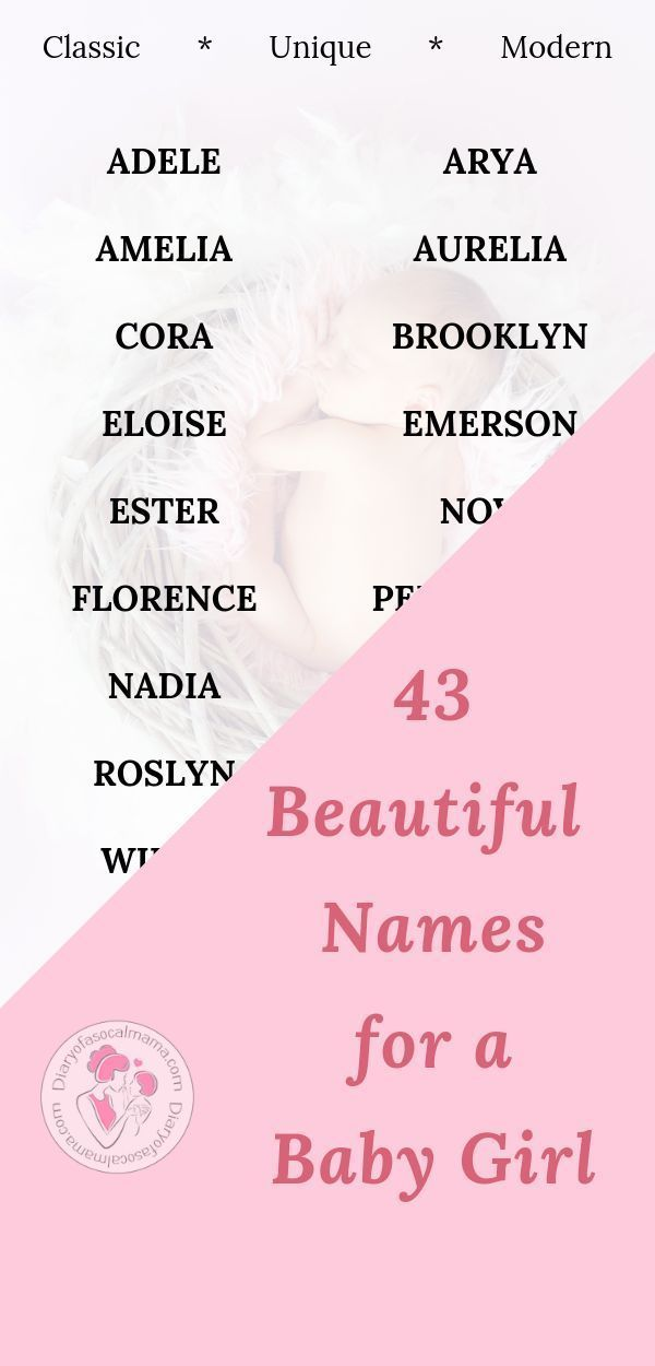 43 Stunning names for your baby girl - Rock Baby Names