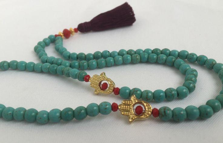 Turquoise Gemstone Tasbih - Islamic Rosary - Prayer Beads - Muslim Gift - Ramadan - Eid - Hajj - Umrah - Dhikr - Tasbeeh - Misbaha - Tesbih by BarakaBeadsBoutique on Etsy https://www.etsy.com/listing/385262226/turquoise-gemstone-tasbih-islamic-rosary