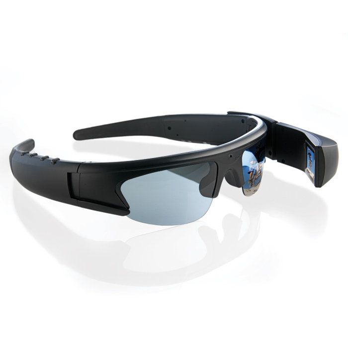 Active I Eyewear -- built in camera with 2 hours of live recording, editing, and photo taking; connects to TV for instant sharing. $199.99