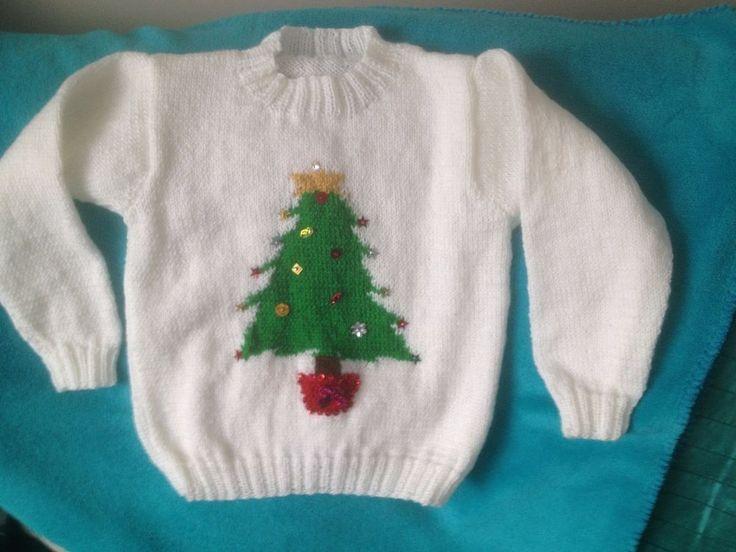 Hand Knitted Christmas jumper  | eBay