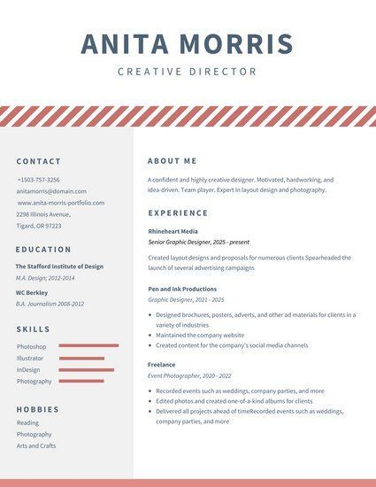 White Minimalist Graphic Design Resume Resume Design template