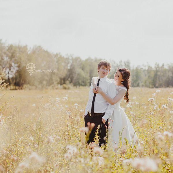 свадебная фотосессия в поле #wedding #summer #love