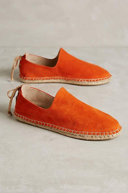 would probably re-do that leather at the back ... House of Harlow Callan Espadrilles - anthropologie.com