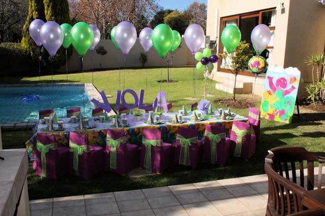 Girls Party Themes | Barney