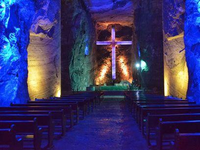 La famosa Catedral de Sal de Zipaquirá, Colombia
