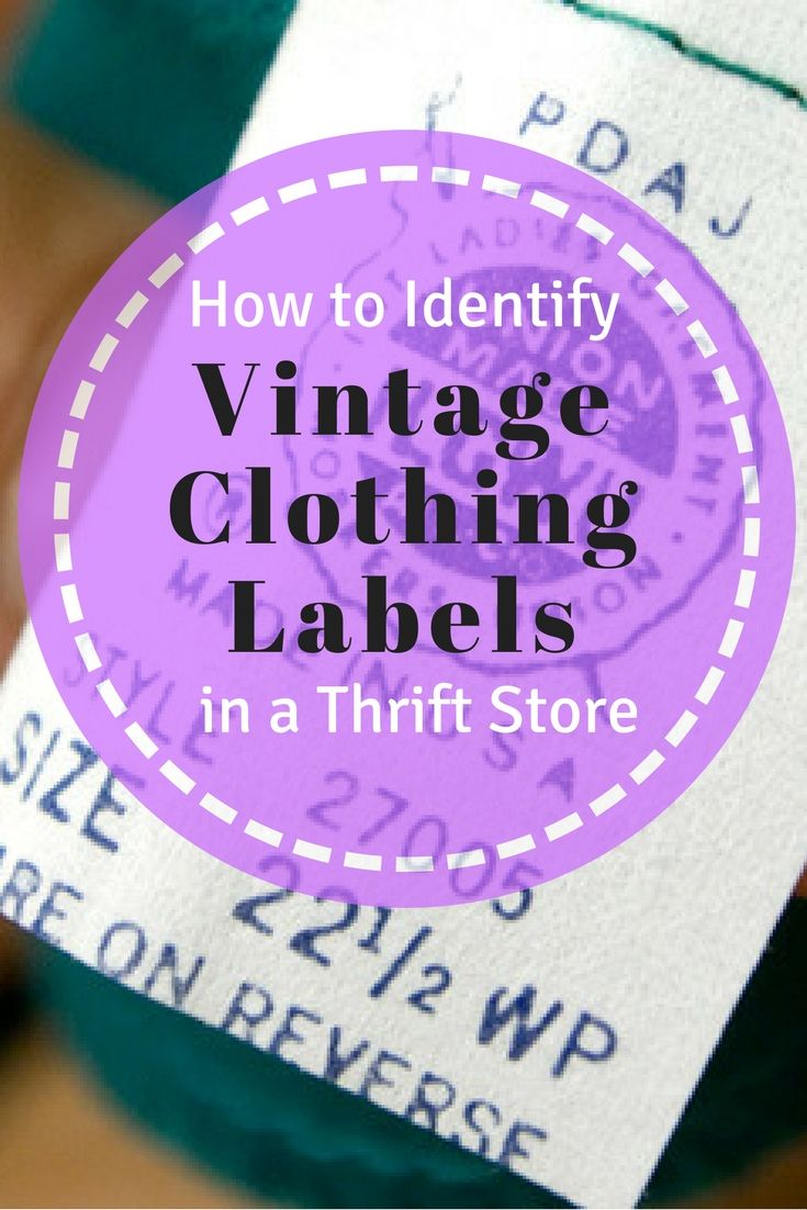 46314844812 Vintage Fashion Tips  How to Identify Vintage Clothing Labels